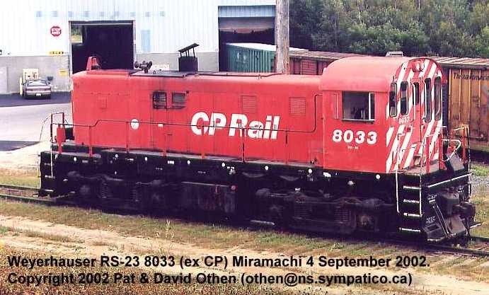 Weyerhauser engine, Miramichi