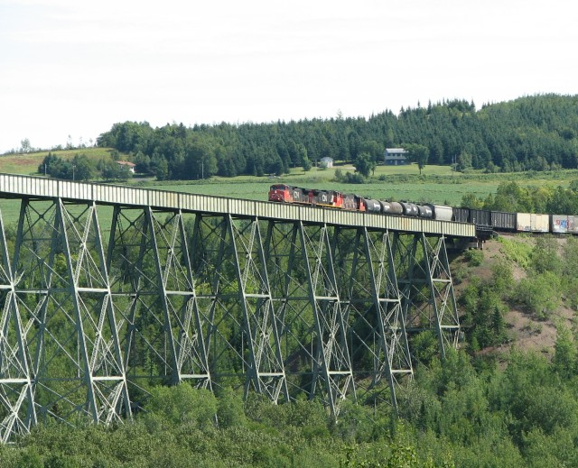 CN 305 on the Salmon River trestle