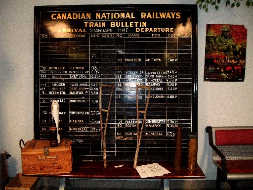 Station board in Moncton station