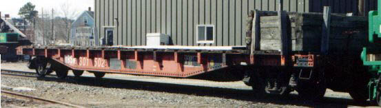 NBSR maintenance-of-way flatcar, McAdam